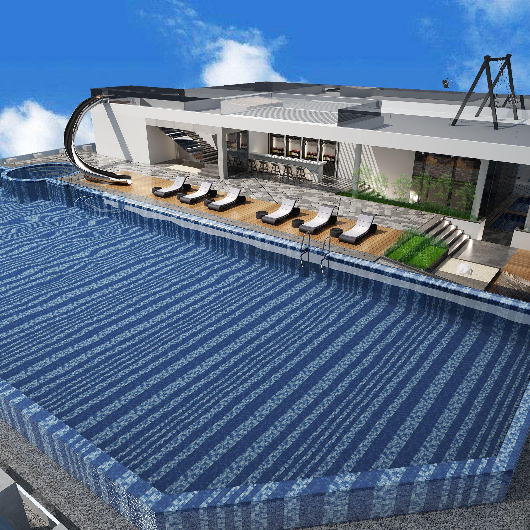 安泰国际广场顶层泳池设计项目