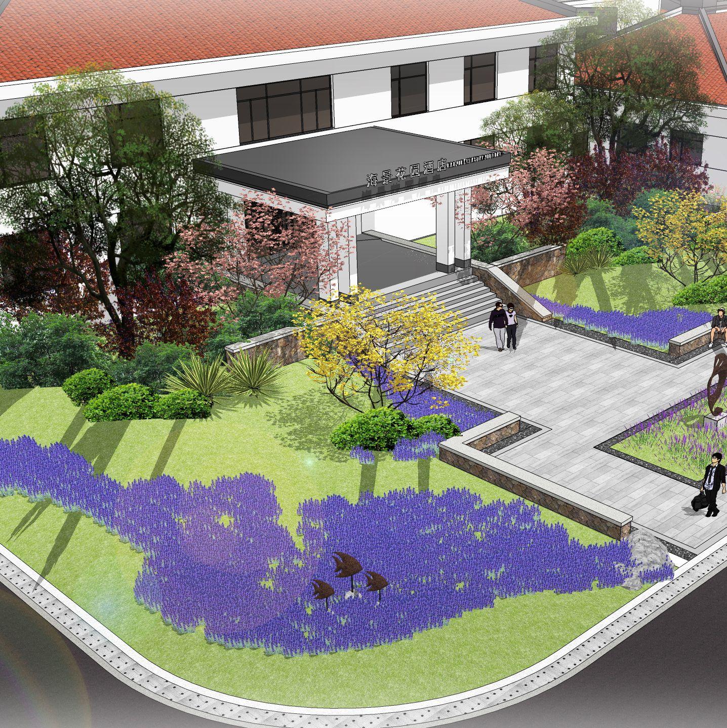 日照海景花园大酒店景观园林设计项目