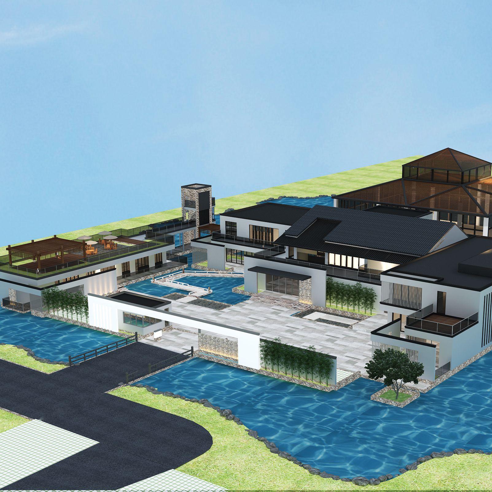 新疆会所建筑景观规划设计项目