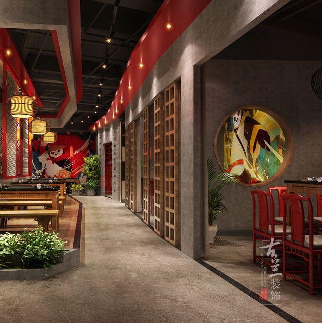 广东餐厅设计|佛山火锅店设计公司|朝天门连锁火锅店(高明店)项目