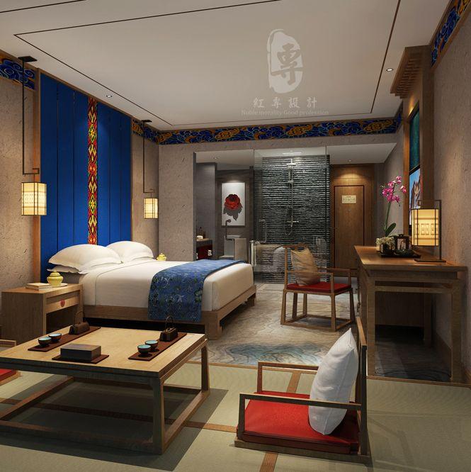 阿坝度假酒店设计效果图 | 九黄湾国际温泉度假酒店设计案例
