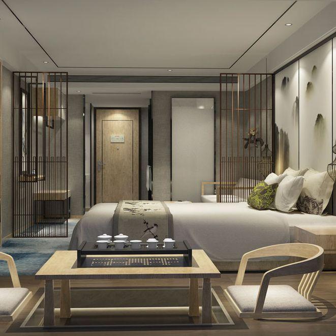 万达酒店设计公司 | H和枫酒店(郫县万达)设计效果图赏析