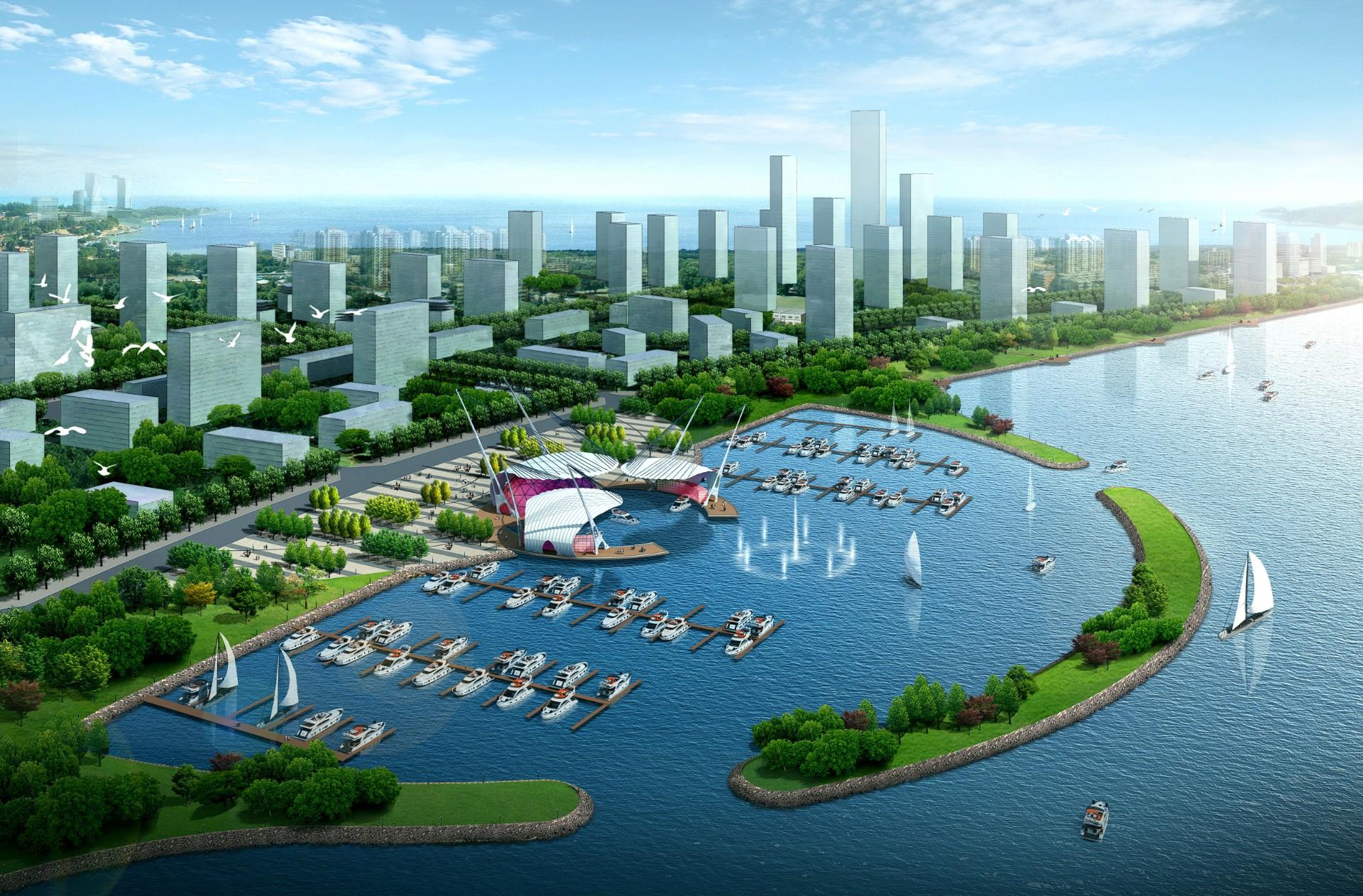 唐山湾国际旅游岛核心区岸线