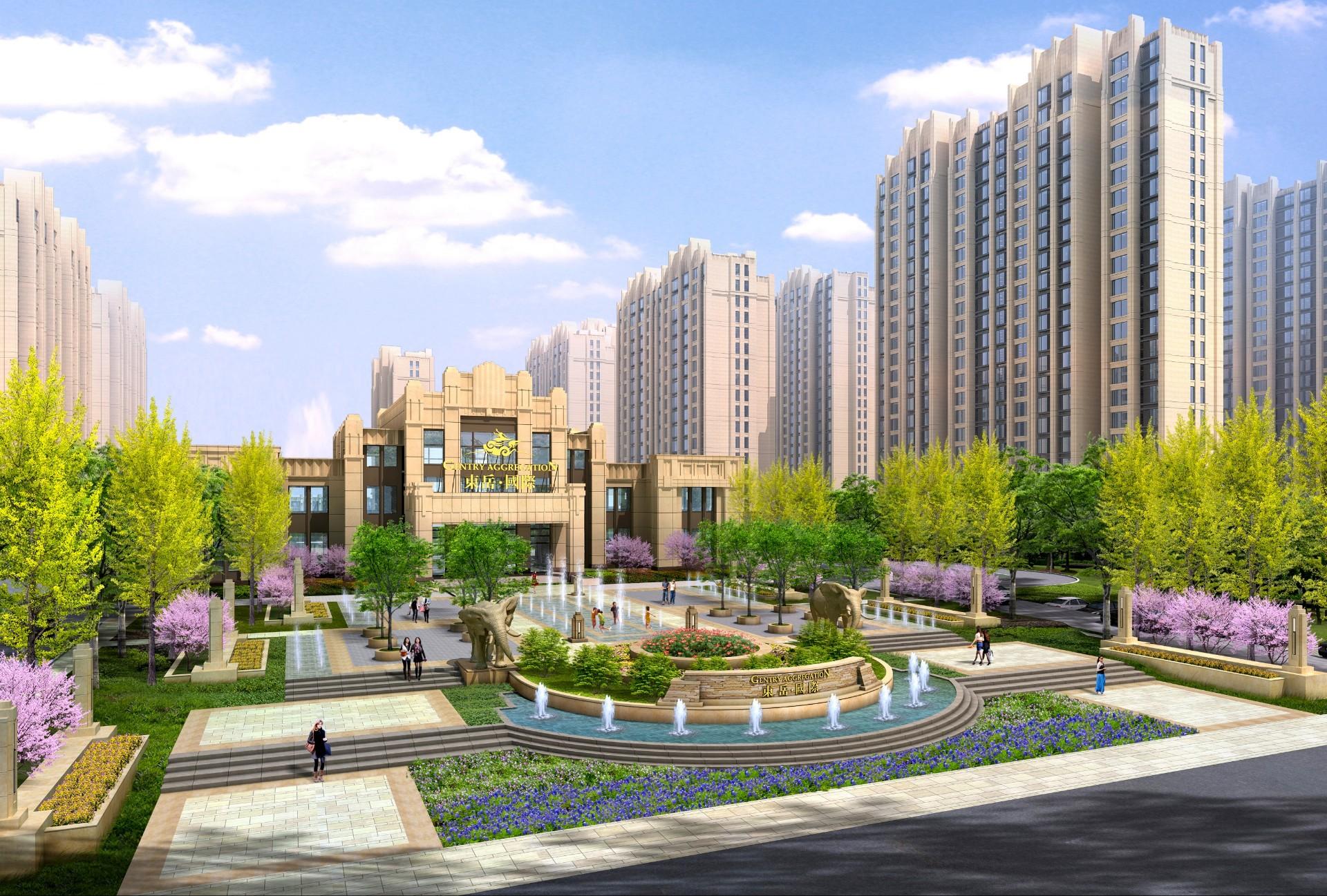 淄博东岳国际社区景观