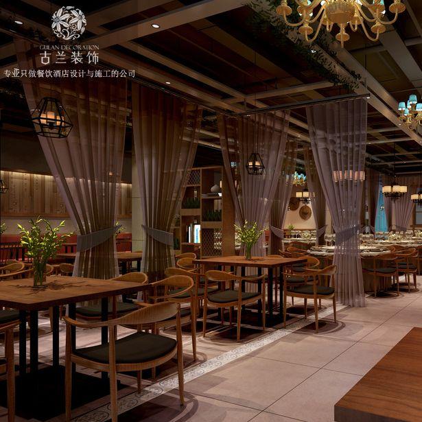 成都最好的中餐厅设计公司-成都春熙路一品红中餐店空间设计