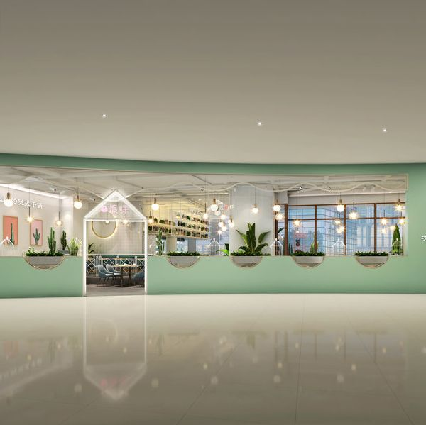 成都时尚清新餐厅设计《银石广场干锅店》案例展示