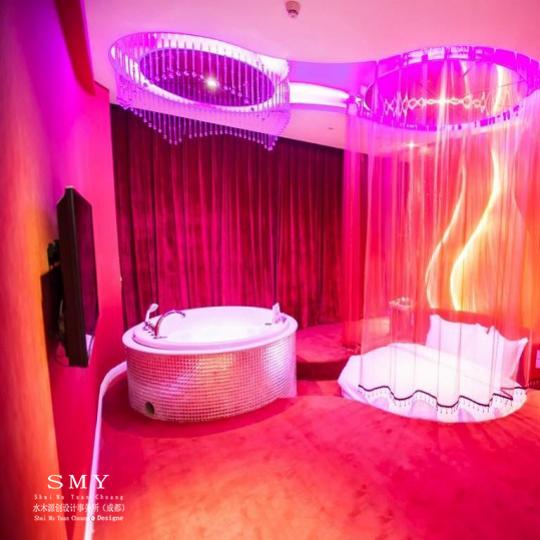 乐山情侣主题酒店外观设计和室内设计—水木源创