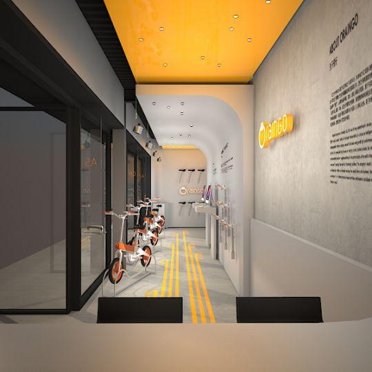 上海橙子智能单车体验店