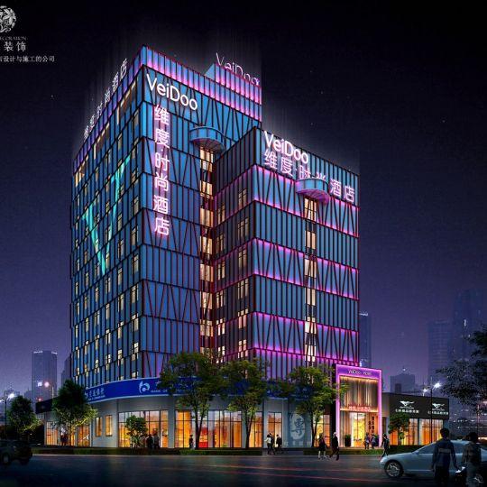 西安酒店设计公司-五羊维度时尚精品酒店