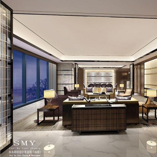现代中式酒店设计风格与现在简约酒店设计风格的迥异—水木源创