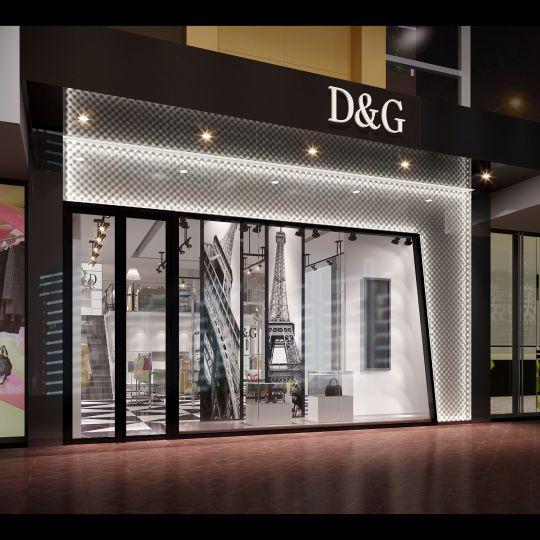 成都服装店设计公司——D&G服装店