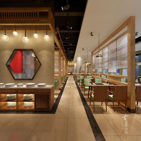 现代中式风格中餐厅设计图-成都餐厅设计|成都餐厅装修<川菜馆>