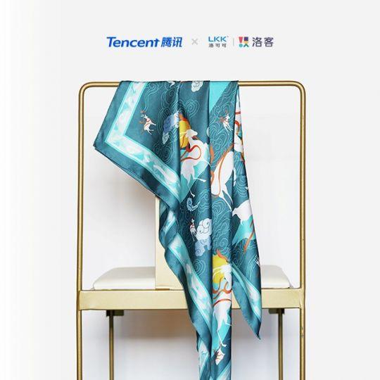 洛可可·敦煌文创丝巾设计