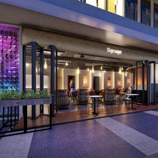 上海虹桥酒吧室内设计