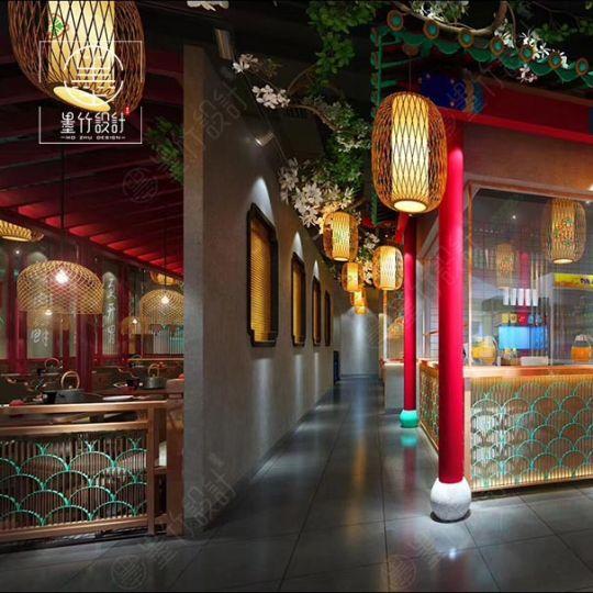 蛙三泡椒牛蛙主题餐厅设计 | 成都主题餐厅设计公司